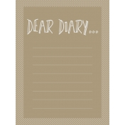 In The Pocket- Prompts Journal Cards- DearDiary Tan