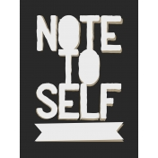 In The Pocket- Prompts Journal Cards- Note To Self Black
