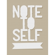 In The Pocket- Prompts Journal Cards- Note To Self Tan