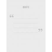 In The Pocket- Prompts Journal Cards- Quote White