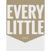In The Pocket- Filler Journal Cards- Every Detail Tan