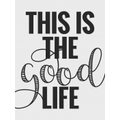 In The Pocket- Filler Journal Cards- Good Life Black