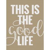 In The Pocket- Filler Journal Cards- Good Life Tan