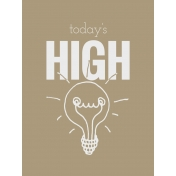 In The Pocket- Filler Journal Cards- Highlight Tan