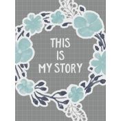 In The Pocket- Filler Journal Cards- My Story Gray