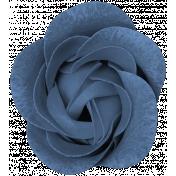 Winter Day - Elements - Flower Blue