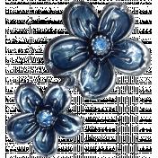 Winter Day- Elements- Metal Flower Blue