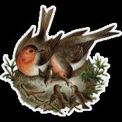 Winter Day - Elements - Vintage Birds