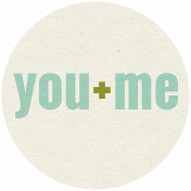 The Guys- Elements- Word Art- You & Me