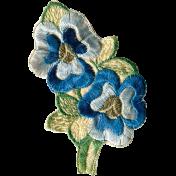 Secret Garden- Elements- Embroidered Flowers