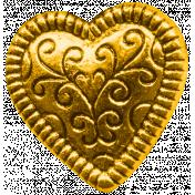 Secret Garden- Elements- Gold Heart