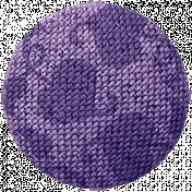 Cozy Day- Elements- Button Purple
