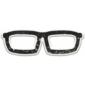 Hipster Dad- Elements- Glasses Sticker