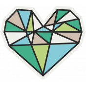 Hipster Dad- Elements- Heart Sticker
