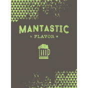 Hipster Dad- Elements- Journal Card- Mantastic