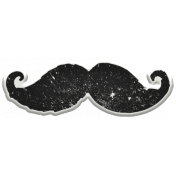 Hipster Dad- Elements- Moustache Sticker