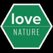 Nature Escape- Minikit- Element- Word Art- Love Nature
