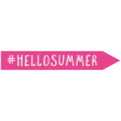 Summer Lovin- Minikit- Wordart- Hello