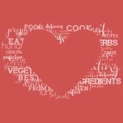 Food Day- Papers- Heart Words Red