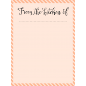 Food Day- Journal Cards- From Kitchen- 3x4