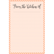 Food Day- Journal Cards- From Kitchen- 4x6