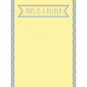 Food Day- Journal Cards- Keeper- 3x4