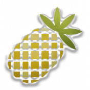 Food Day- Elements- Pineapple Sticker