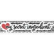 Food Day- Elements- Secret Ingredient