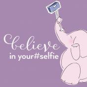Digital Day- Filler Cards- Elephant Selfie- 4x4