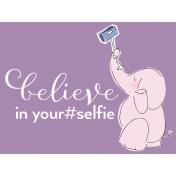 Digital Day- Filler Cards- Elephant Selfie- 4x3