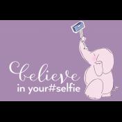 Digital Day- Filler Cards- Elephant Selfie- 6x4