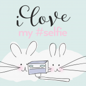 Digital Day- Filler Cards- Mice Selfie- 4x4