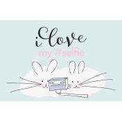 Digital Day- Filler Cards- Mice Selfie- 6x4