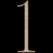 Winter Day Alphas- 1- Wood Serif