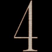Winter Day Alphas- 4- Wood Serif