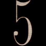 Winter Day Alphas- 5- Wood Serif