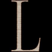 Winter Day Alphas-Uppercase L- Wood Serif