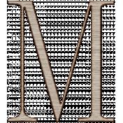 Winter Day Alphas-Uppercase M- Wood Serif