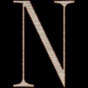 Winter Day Alphas-Uppercase N- Wood Serif