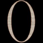 Winter Day Alphas-Uppercase O- Wood Serif
