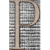 Winter Day Alphas-Uppercase P- Wood Serif