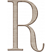 Winter Day Alphas-Uppercase R- Wood Serif