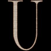 Winter Day Alphas-Uppercase U- Wood Serif