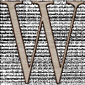 Winter Day Alphas-Uppercase W- Wood Serif