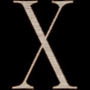 Winter Day Alphas-Uppercase X- Wood Serif