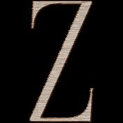 Winter Day Alphas-Uppercase Z- Wood Serif