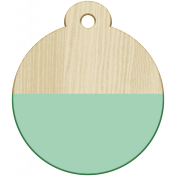New Day- Elements- Wood Label Round