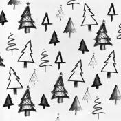 Good Life December- Minikit- Paper- Trees- Black & White