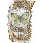 Mixed Media 1  - Elements - Burlap Butterfly Tag