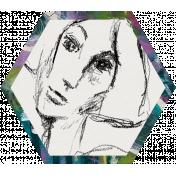 Mixed Media 3- Elements- Face Hexagon 01
